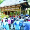 新海神社  秋の例祭 神楽殿でフラダンス